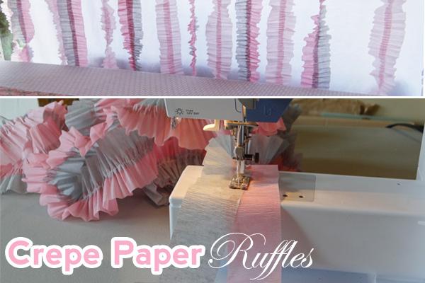 crepe paper ruffle tutorial