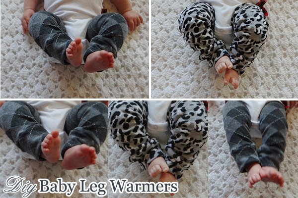 Cute baby legs with DIY baby leg warmers