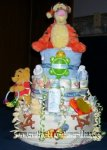 tigger and winnie the pooh diaper cake