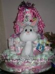 pink bugs bunny diaper cake