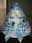 its a boy blue ribbon diaper cake