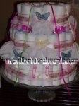 butterfly and pins diaper centerpiece