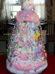 pink princess dog diaper cake