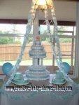6 tier wedding style diaper cake