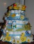 ducks and daisies diaper cake