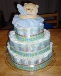 winnie the pooh and blanket diaper cake