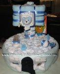 blue basketball hoop diaper cake