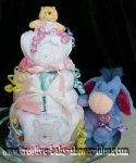 girl winnie the pooh and Eeyore diaper cake