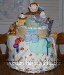 happy monkey nappy cake