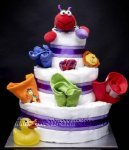 red bug diaper cake