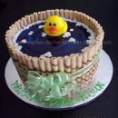 duck in a barrel pond baby cake