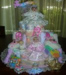 porcelain dolls diaper cake