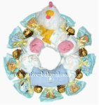 chicken and chocolate diaper wreath