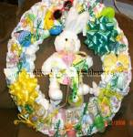 bunny diaper wreath