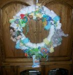 safari animals diaper wreath