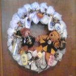 pittsburgh steelers diaper wreath
