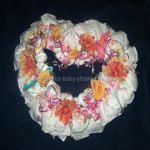heart shaped diaper wreath