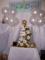 its a boy elegant lion diaper cake