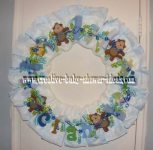 monkey letters diaper wreath