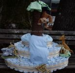 monkeys in trees diaper cake