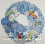 blue deer diaper wreath