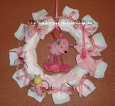 pink poodle diaper wreath