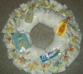 yellow neutral diaper wreath