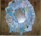 boy precious moments diaper wreath