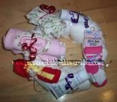 sweet girl pink diaper wreath