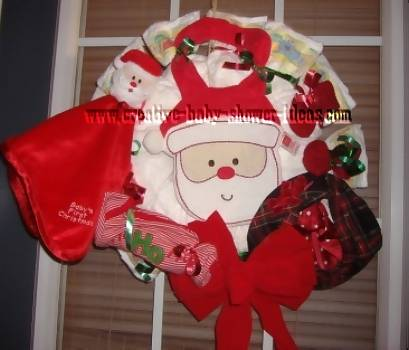 christmas santa diaper wreath