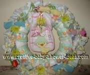 ducks and daisies diaper wreath