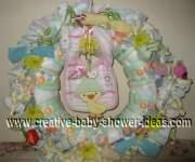 ducks and daisies diaper wreath