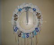 blue letters dog diaper wreath