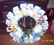 jungle animals diaper wreath