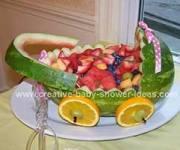 pink polka dot watermelon baby buggy