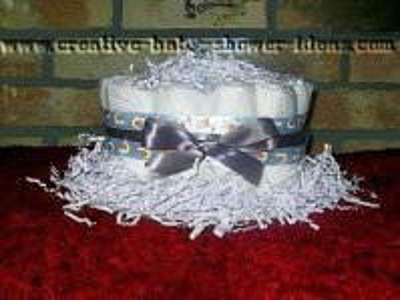 1 tier lavender diaper cake