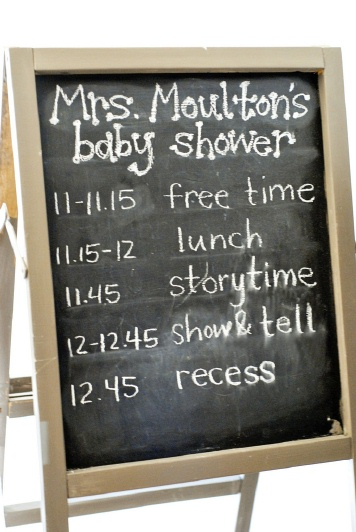 school baby shower sign