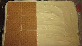 1st layer of chocolate eclair cake