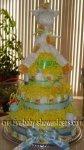 yellow giraffe nappy cake