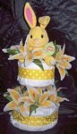 leapster bunny diaper cake