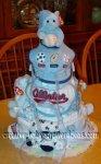 cute allstar baby shower diaper cake