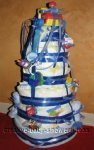 blue boy 7 tier nappy cake