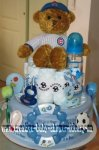 chicago cubs teddy bear diaper cake