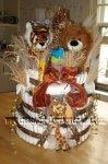 safari jungle animals nappy cake