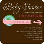 sky banner adoption baby shower invitation