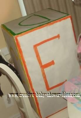 baby shower block gift