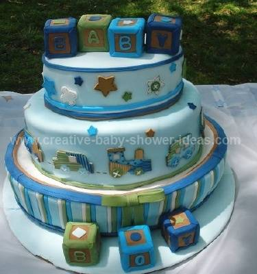 carters blue blocks baby cake