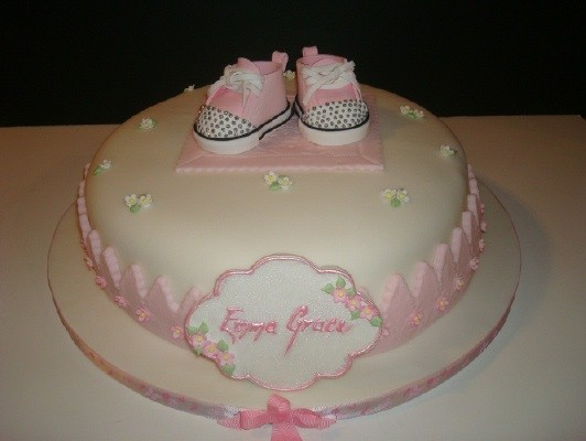 Baby Bootie Cake Photos