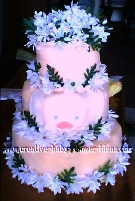 duck baby towel diaper cake
