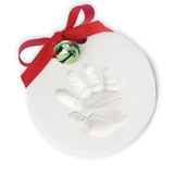 baby hand print ornament